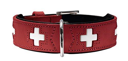 HUNTER SWISS Hundehalsband, Leder, hochwertig,...