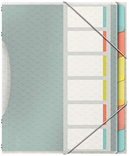 Esselte Colour'Ice Ordnungsmappe, A4, 6 Fächer,...
