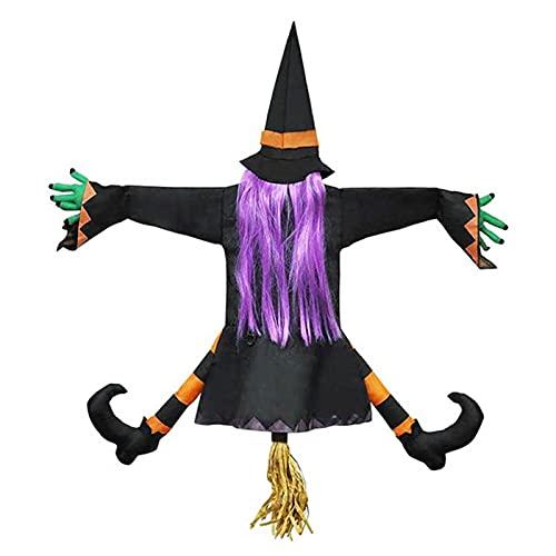 PIGMANA Hexe Halloween Zubehör Deko Garten...