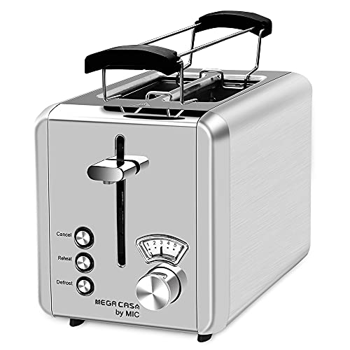 Toaster Edelstahl 2 Scheiben Toaster mit...