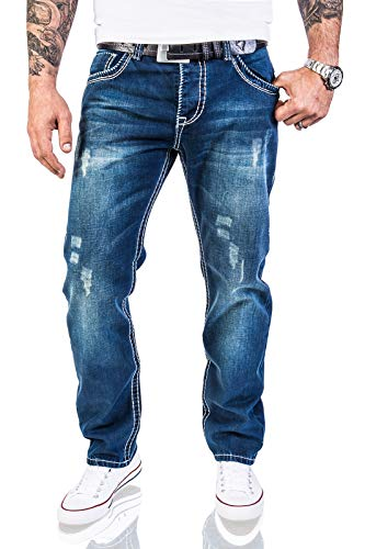 Rock Creek Herren Designer Jeans Hose Dicke Nähte...