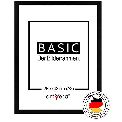 artvera Basic Holz Bilderrahmen Schwarz DIN A3...