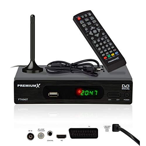 PremiumX FTA 540T Full HD Digitaler DVB-T2...