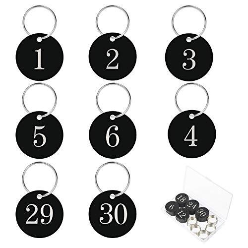 AirSMall 30stk Nummeriert Schlüsselanhänger 1-30...