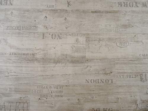 PVC Bodenbelag Vinylboden mit Schriftzügen, weiß...