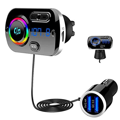 Bluetooth 5.0 FM Transmitter, SONRU Auto Bluetooth...