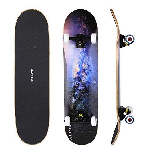 BAYTTER® Skateboard Komplett Board Funboard...