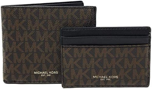 Michael Kors Mens Set Two Piece Leather Billfold...