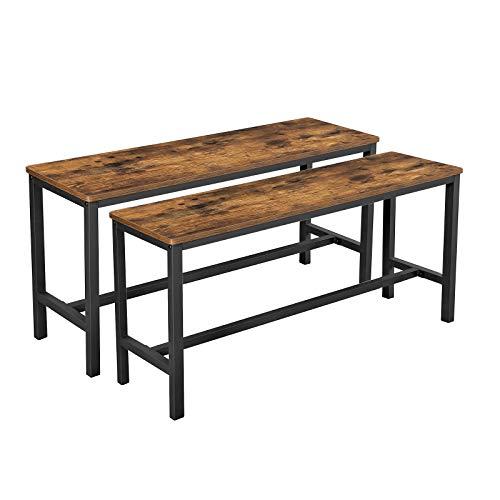 VASAGLE Sitzbänke für Esszimmertisch, 2er Set,...