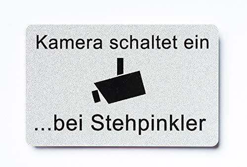 WC Schild Kamera schaltet ein bei Stehpinkler...