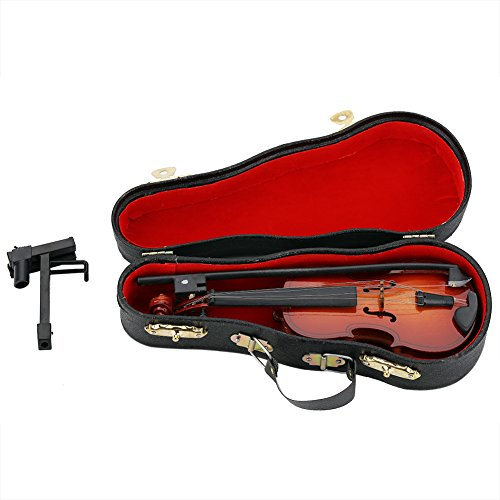 Zerodis Mini Violine Holz Musikinstrument Modell...