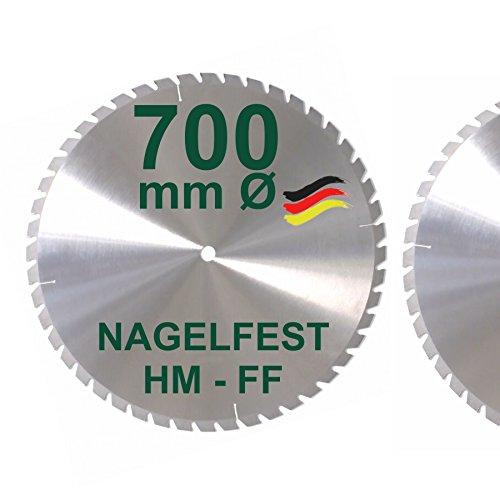 HM Sägeblatt 700 x 30 mm NAGELFEST FF Hartmetall...