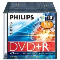 Philips DR4S6S10F/00 DVD+R Rohlinge 16x 4,7GB 10er...