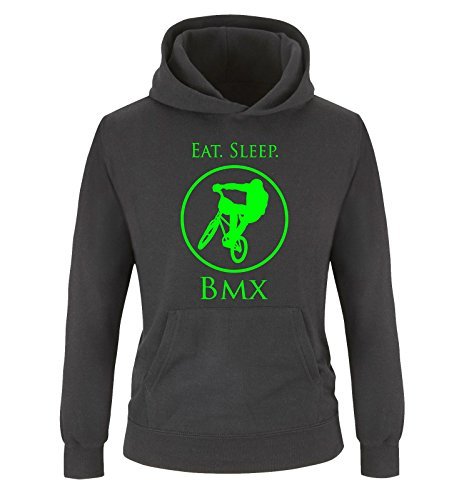 Comedy Shirts - EAT. Sleep. BMX - Kinder Hoodie -...