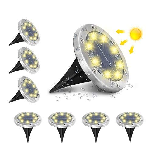 AMBOTHER A-SL-01 Solar Bodenleuchten, 8 LEDS...