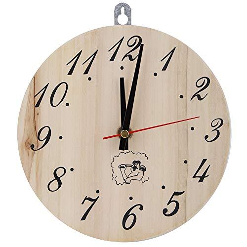 Duokon Holz Wanduhr Analog Runde Uhr 8in Sauna Uhr...