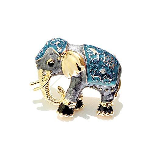 Emaille Elefanten Broschen Strass Tier Brosche...