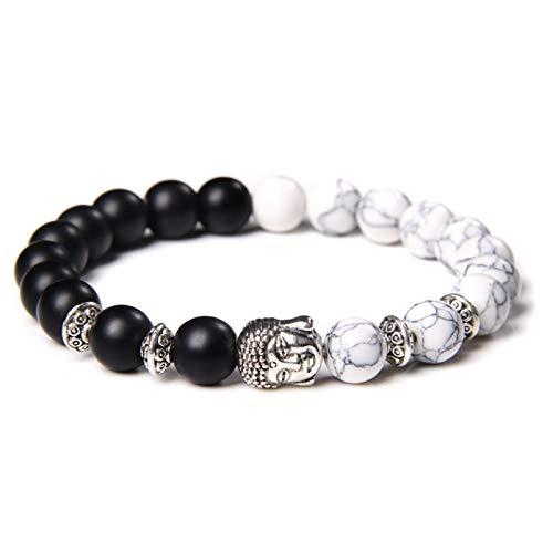 OYZK Klassische Silberne Farbe Buddha Perle Chakra...