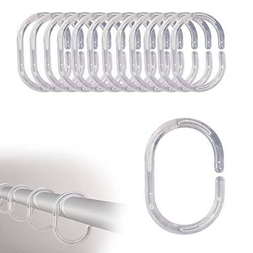 FeJu Duschvorhang Ringe | 24 Stück| Transparent |...