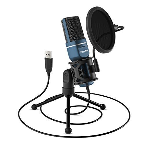 TONOR PC Mikrofon USB Computer Kondensatormikrofon...