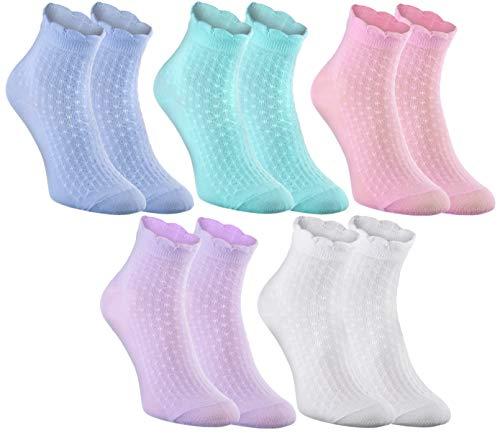Rainbow Socks - Damen Mädchen Ruffle Socken...