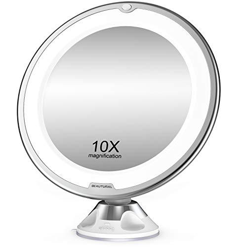 BEAUTURAL Kosmetikspiegel 10-Fach Vergrößerung...