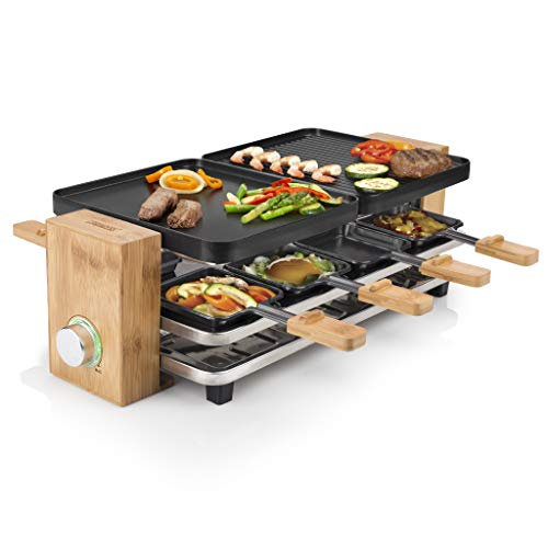 Princess Raclette Grill in Bambusausführung -...