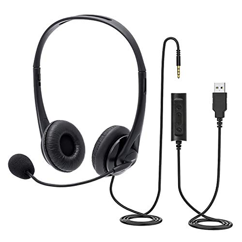 BENEWY Chat Headset with Microphone,PC Headset...