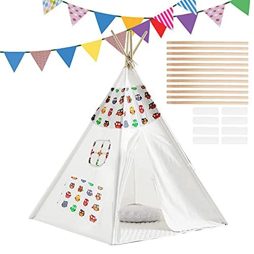 m zimoon Tipi Zelt für Kinder mit Farbiger...