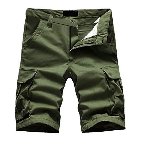 Shorts Herren Reißverschlusstaschen Pure Farbe...