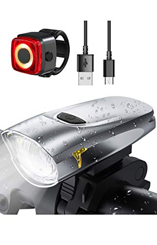 LIFEBEE USB Aufladbar Fahrradlicht Set, CREE LED...