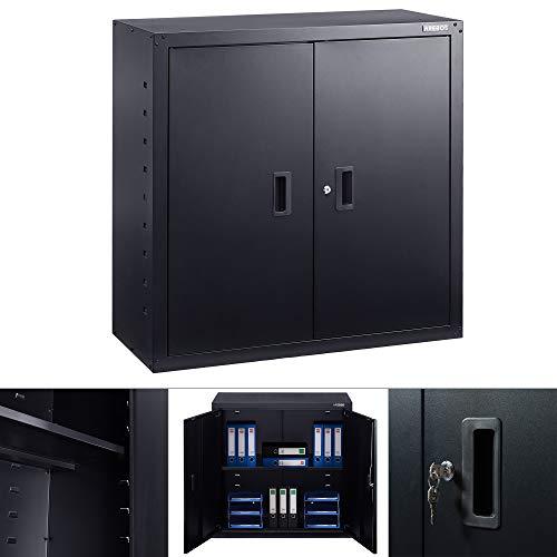 AREBOS Aktenschrank Büroschrank   Schwarz   90 x...