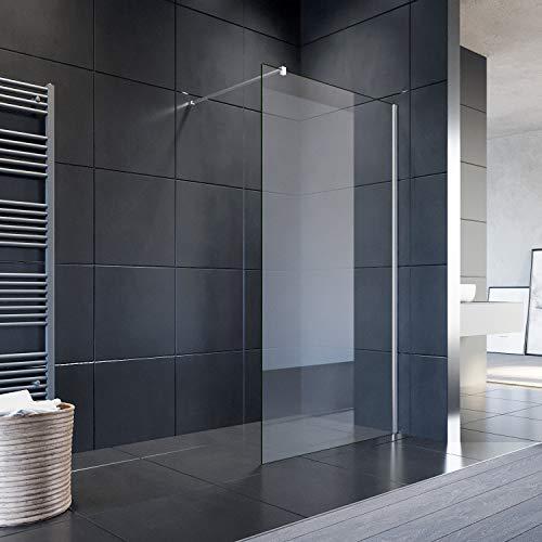 SONNI Duschwand Glas 120 x 200 cm Walk In Dusche 8...