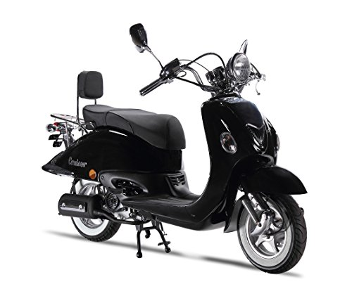 Motorroller LuXXon Cruiser - Retro Roller 45 km/h...