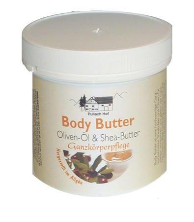 4x Body Butter Creme 250ml mit Olivenöl- und...
