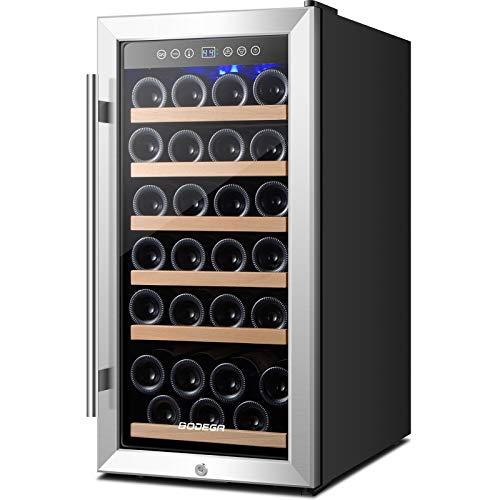 BODEGA Upgraded 32 Flasche Weinkühlschrank,...