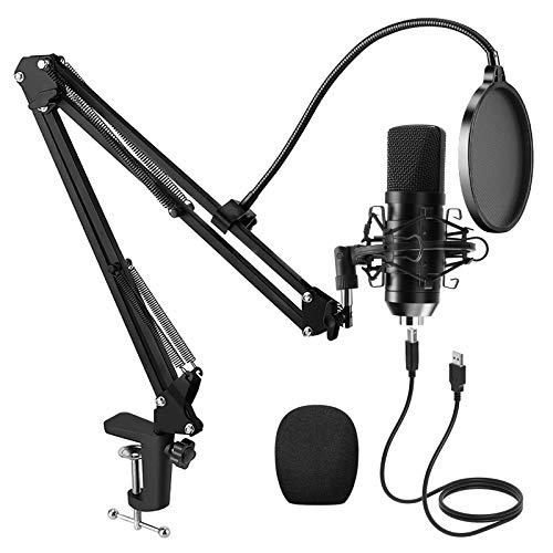 PREUP USB Mikrofon PC mit Mikrofonständer,...