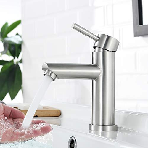Faulkatze Waschtischarmatur Edelstahl Wasserhahn...