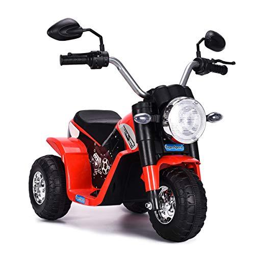 COSTWAY 6V Elektro Motorrad mit Scheinwerfer und...