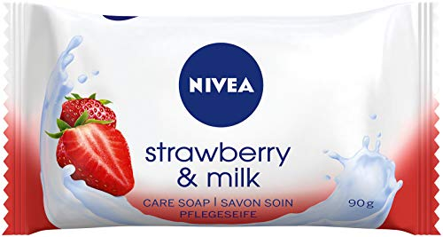 NIVEA Strawberry & Milk Pflegeseife (1 x 90 g),...