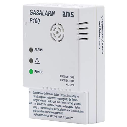 Gasmelder Gasalarm P100 (12 Volt) Butangas +...