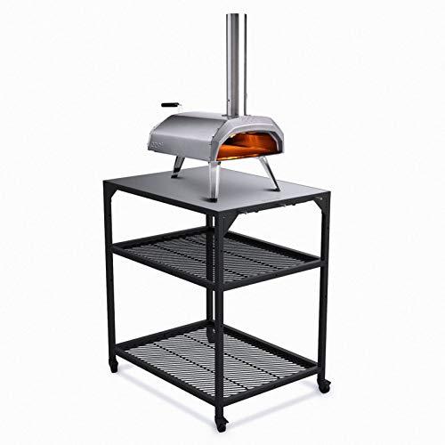 Ooni Pizzatisch aus Stahl– medium, Grill...