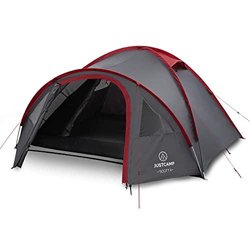 Justcamp Scott 4 Camping Zelt 4 Personen, Iglu...