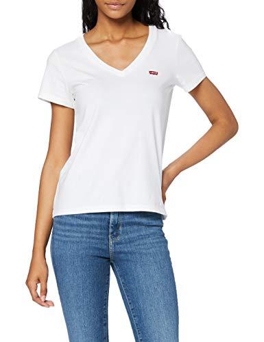 Levi's Damen Perfect Vneck T-Shirt, White (White +...