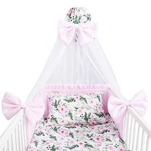Amilian Baby Bettwäsche 7tlg Set mit Nestchen...