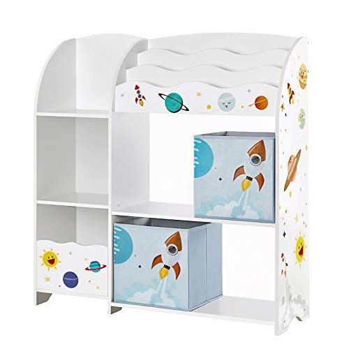 SONGMICS Kinderzimmerregal, Spielzeug-Organizer,...