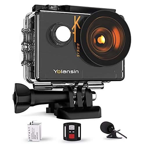Yolansin Action Cam 4K 60FPS 20MP WiFi 40M...