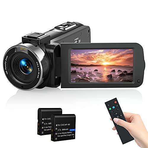 Videokamera Camcorder, MELCAM 1080P 30FPS Vlogging...