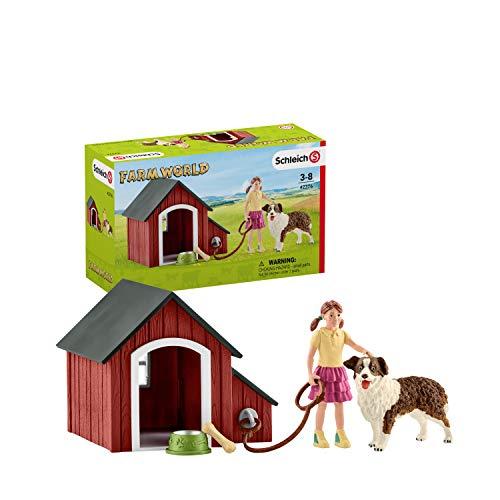 Schleich 42376 Farm World Spielset - Hundehütte,...