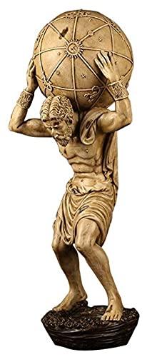 WQQLQX Statue Atlas Skulptur Greek Gods Statue...